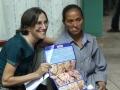 Leila Srour met een Noma patiente